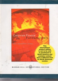 Image of Corporate Finance Fundamentals, Sevent Edition